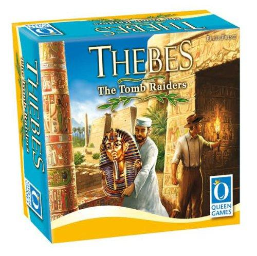 The Box art for Thebes The Tomb Raiders Board Game