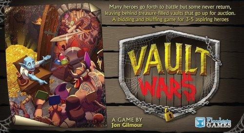 The Box art for Vault Wars Board Game