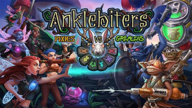 The Box art for Anklebiters: Pixies VS Gremlins