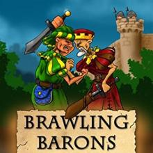 The Box art for Brawling Barons by