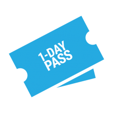 1 day pass ticket graphic