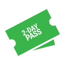 2 day pass ticket graphic