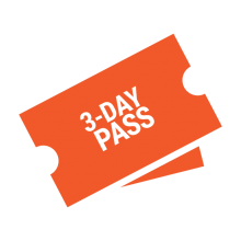 3 day pass ticket graphic